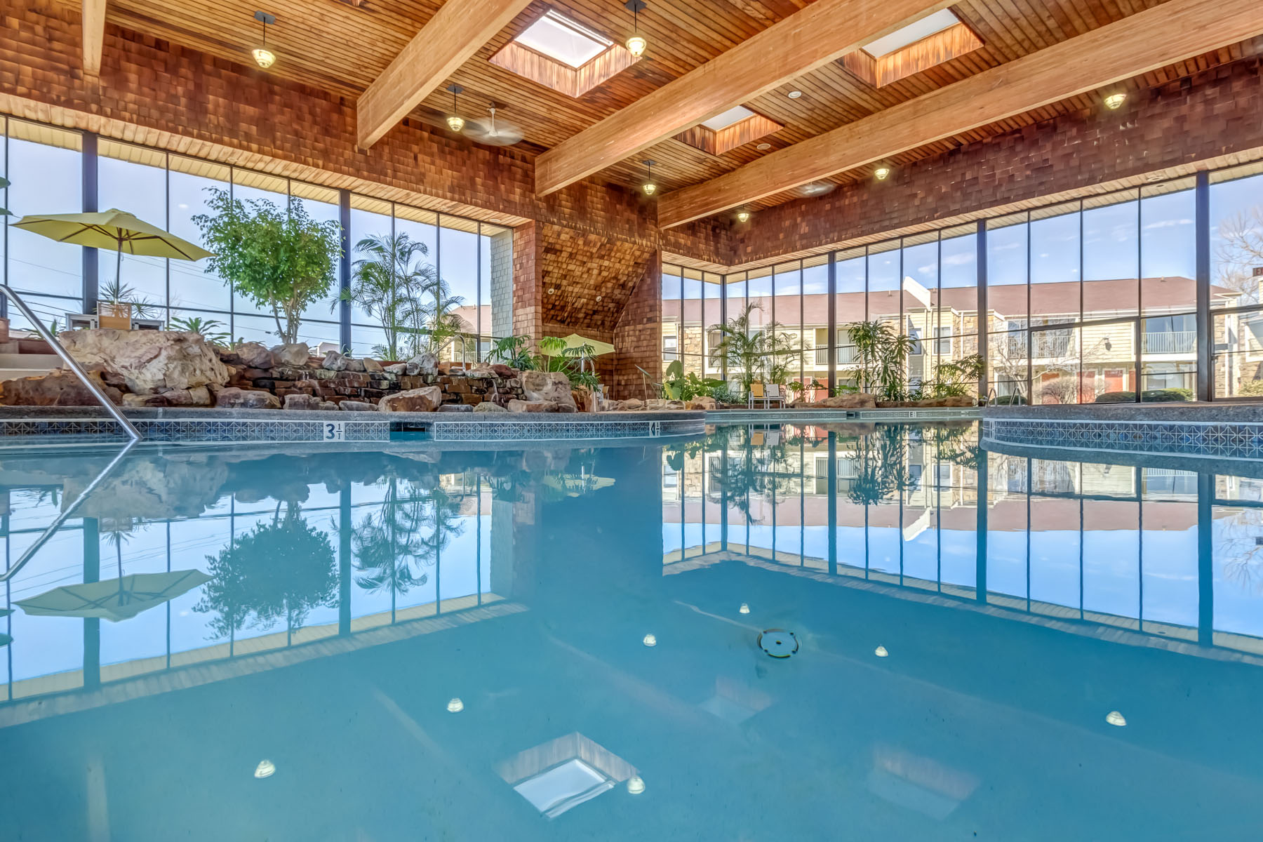 Real Estate Photography Shoot For Raintree Apartments The Indoor Pool 175 N Locust Hill